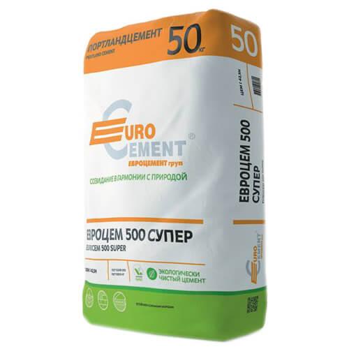 Цемент М500-Д0 Евроцемент 50 кг
